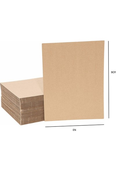 Boxplant - 70 x 100 cm 6 mm Oluklu Mukavva Kalın Karton x 10 Adet