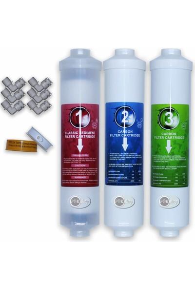 Ihlas Aura Cebilon Plus ve Tüm Kapalı Kasa Inline Su Arıtma Cihazları Için 5'li Filtre Seti