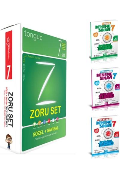 Tonguç Akademi Yayınları 7. Sınıf Tüm Dersler Zoru Bankası ve Turbo Türkçe Matematik Fen Denemeleri