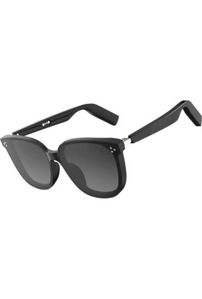 Yukka Siyah Akıllı Mikrofonlu Su Geçirmez Stereo Bluetooth Gözlük