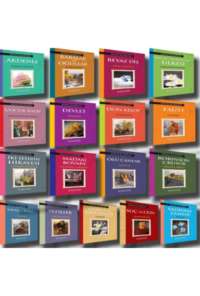 Dünya Klasikleri Seti (17 Kitap Set)