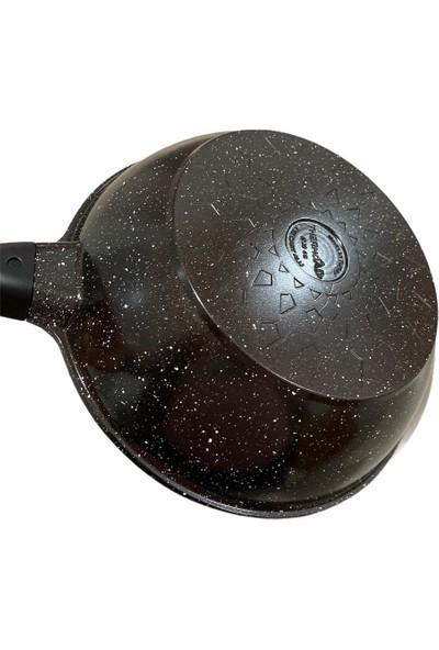 Thermoad 28 cm Döküm Granit Wok Tava