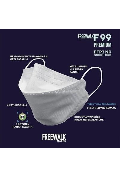Nefes F99 FFP3/N99 Meltblown Maske 4 Katlı Tekli Paketli