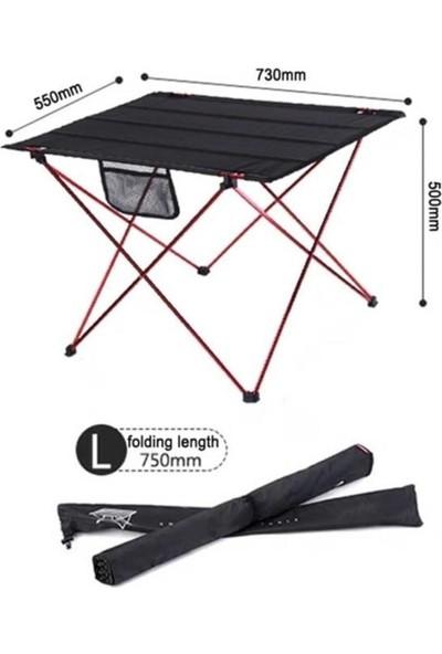 Trend Maison Katlanabilir Piknik Bahçe Balkon Kamp Masası Taşıma Çantalı