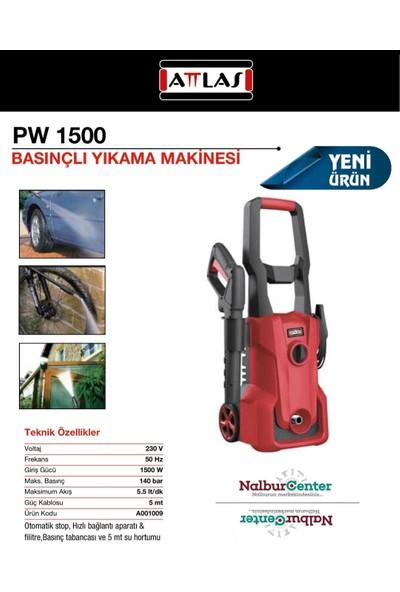 Attlas PW1500 Basınçlı Yıkama Makinası 1500W - 140 Bar