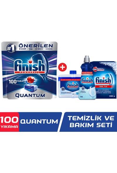 Finish Quantum 100 Tablet Bulaşık Makinesi Deterjanı + Temizlik ve Bakım Seti