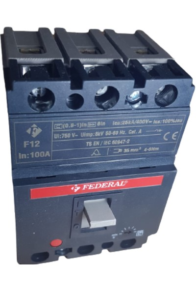 FEDERAL F12 100A Termik Manyetik Şalter Federal