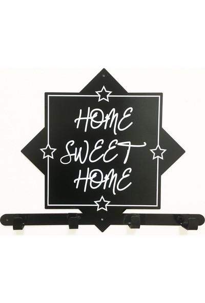 Bsign Metal Home Sweet Home Dekoratif Duvar Askısı Elbise Askılığı