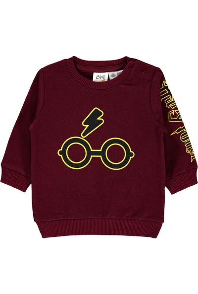 Harry Potter Erkek Bebek Sweatshirt 6-18 Ay Bordo
