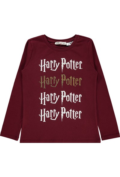 Harry Potter Kız Çocuk Sweatshirt 6-9 Yaş Bordo