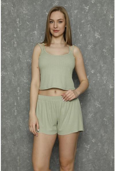 Raspberry Askılı Şortlu Pijama Takımı