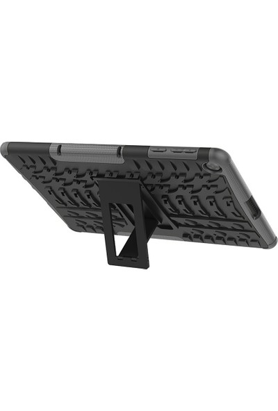 Microcase Huawei Matepad T10 / 10S Alfa Armor Standlı Perfect Protect Kılıf Siyah