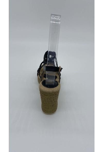 De Scarıo Dolgu 005 Hasırlı Sandalet