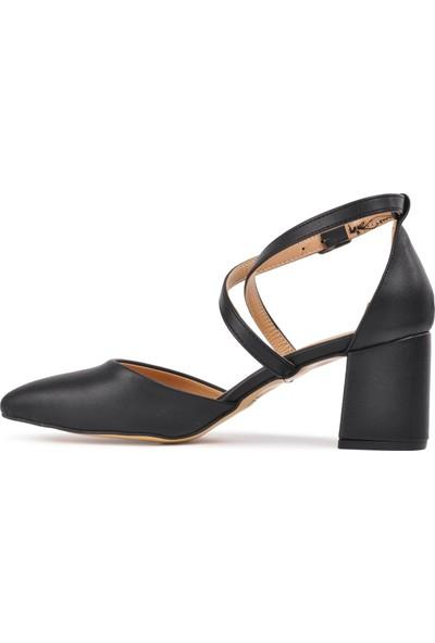 Park Moda K720 Siyah Kadın Topuklu Ayakkabı