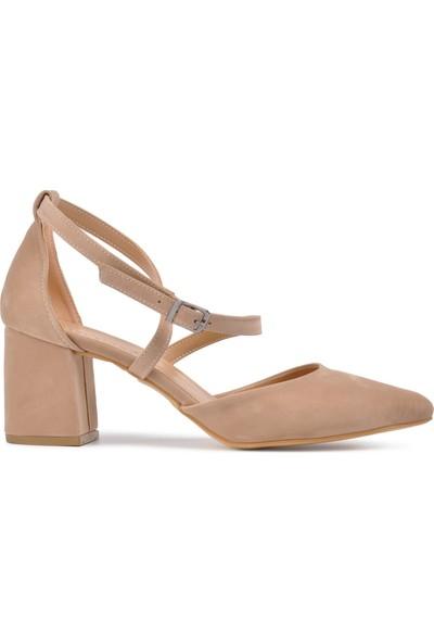 Park Moda K720 Ten Süet Kadın Topuklu Ayakkabı