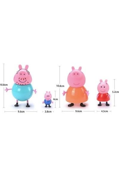 Peppa Pig Ailesi 4 Lü Pasta Süsü Figürleri
