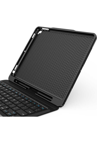 Wiwu Apple iPad 9.7 2017 Keyboard Folio Kablosuz Klavyeli Kılıf Siyah