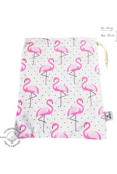 Atölye Eda Flamingo Desen Kese