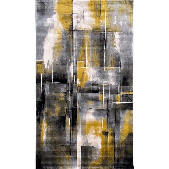 Payidar Halı Evrim HE154 Gri/Sarı 80x150 cm Modern Halı