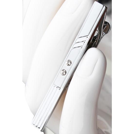 Varetta Erkek Kravat İğnesi Gümüş Renk