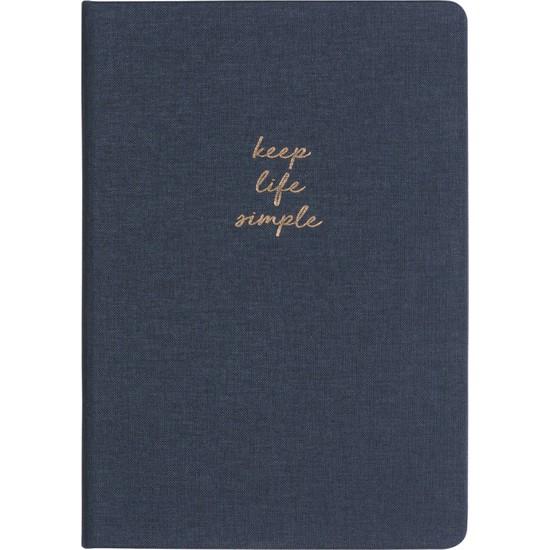 Matt Notebook Sert Kapak Noktalı Defter Lacivert 14 x 20 cm