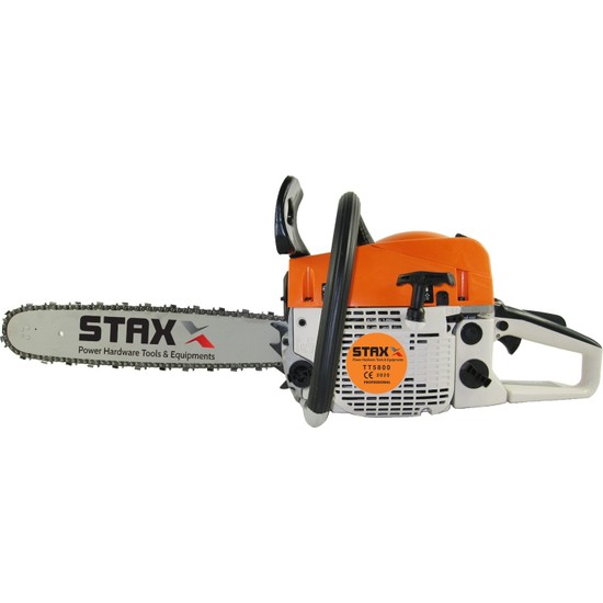 Staxx Power Tt-58 4.3 Hp Ağaç Motoru 58 cc Benzinli Testere Ağaç Odun Dal Kesme Makinası Fiber Saplı Balta Hediyeli