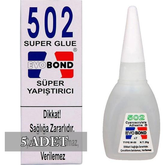 Evobond 502 Süper Japon Yapıştırıcısı 20 gr 5 Adet