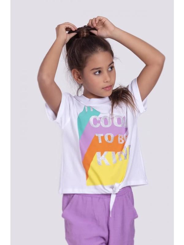 Dmb Kız Çocuk Renkli Baskılı Takım