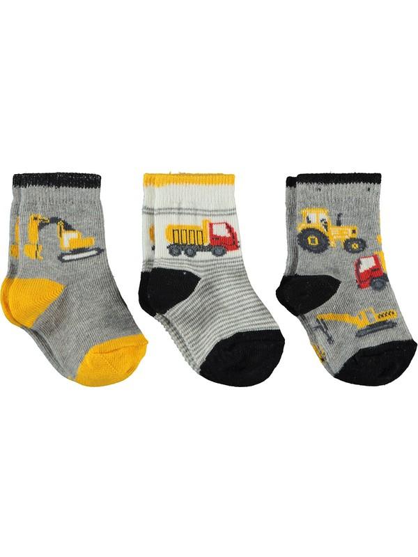 Civil Baby Erkek Bebek 3'lü Çorap Set 0-24 Ay Siyah