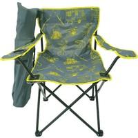 Bofigo Kamp Sandalyesi Katlanır Sandalye Bahçe Koltuğu Piknik Plaj Balkon Sandalyesi Desenli Gri