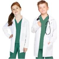 Arslan İş Elbiseleri Beyaz Kız-Erkek Çocuk Doktor, Laboratuvar Önlüğü