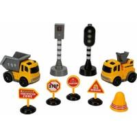 Maxx Wheels Sesli ve Işıklı Arabalı Trafik Işık Seti - Inşaat Araçları