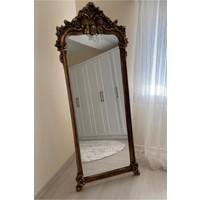 Evim Moda Ayaklı Dekoratif Varaklı Boy Aynası 170X67 cm Hürrem Model - Altın Eskitme