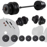 Ecgspor 25 kg Halter Seti ve Dambıl Seti Ağırlık Fitness Seti