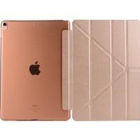 MobaxAksesuar Apple iPad Pro 10.5 Kılıf Trifolding Standlı Smart A1701 A1709 A1852 Rose Gold