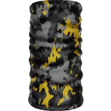 E-Taktik ® Debuff Collar Camouflage Black-Yellow Buff Boyunluk Bandana Balaklava