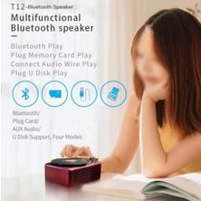 Yukka Siyah X10 Kablosuz Retro Bluetooth Hoparlör (Yurt Dışından)