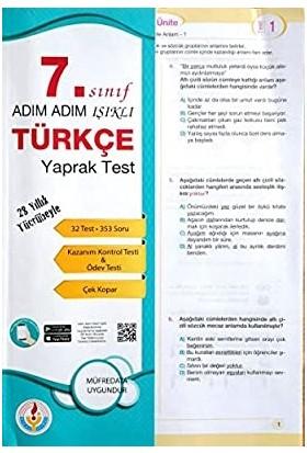 Bilal Işıklı Yayınları 7. Sınıf Türkçe Yaprak Test