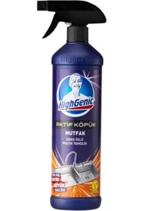 Highgenic Aktif Köpük Mutfak Sirke Özlü Genel Temizlik 750 ml