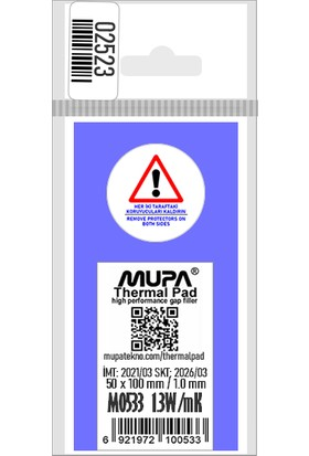 Mupa Termal Ped / Thermal Pad 1.0mm 1.3W/MK 5X10CM M0533