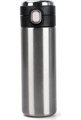 Daphnela LED Sıcaklık Göstergeli Sızdırmaz Akıllı Vakumlu Mug Gri Termos 420ML