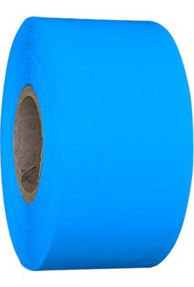 On Roll Paper Mavi Renkli Yem Etiketi 100MM x 300M 6 Rulo