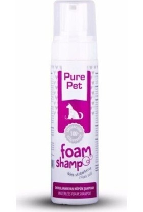 Pet Love Pure Pet Durulanmayan Köpük Şampuan 225ML Çilek