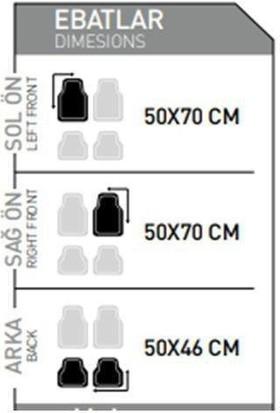 Unikum Citroen Jumper Uyumlu Ekonomik 3D Havuzlu Paspas Star Siyah 5 Parça Oto Paspası