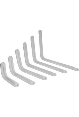 Beşel Beyaz Raf Altı Lüx Destek,raf Ayağı 10 x 12