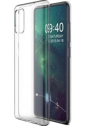 Vinn Mood Samsung M51 Kılıf Antishock Silikon Köşeli Şeffaf Airbag Arka Kapak