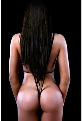 Anastasia Kadın Siyah Deri Fantezi Mayokini