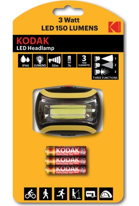 Kodak HEADLAMP150 LED Kafa Lambası-3 Adet Pil