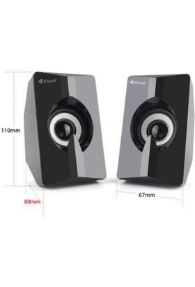 Azemax USB 2.0 Işıklı Speaker 1+1 Hoparlör Rgb Speaker