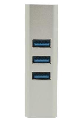 Omars Type-C Ethernet Dönüştürücü ve 3 Portlu USB 3.0 Hub Çoklayıcı